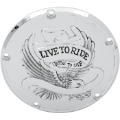 Live To Ride Derby Covers for 99-13 Big Twin