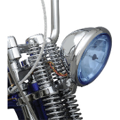 "5-3/4"" Bottom-Mount Headlight Assemblies for Springer-Blue Lens"