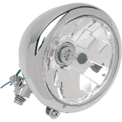 "5-3/4"" Bottom-Mount Headlight Assemblies W/Plain Bezel"