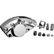 Chrome Rear Brake Caliper for 73-80 FL, FLH, 73-80 FX