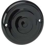 Black Ripple Ignition Cover- 2 Hole Mount
