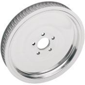 "Polished 1-1/2"" Rear Belt Pulley for 86-99 Big Twin"