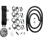 SlimLine 6-row Vertical Frame-Mount Oil Cooler Kit