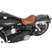 Renegade Lariat Solo Seat w/Backrest Option for 06-14 Dyna Model