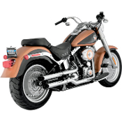 "2-1/2"" Slash Cut Slip-On Mufflers for 07-14 FLSTF models"
