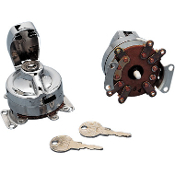 Five-terminal ignition switch for 48-65 panhead