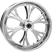 "One-Piece Forged Single Disc Front Aluminum Wheels- 23"" x 3.75"""