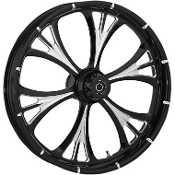 "One-Piece Forged Dual Disc Front Aluminum Wheels- 23"" x 3.75"""