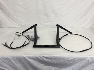 "2015-2018 Road Glide NAKED bars 15"" x 1 1/4"" & Cable kit"