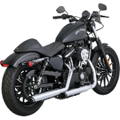 "3"" Round Twin Slash Slip-On Mufflers for 14-15 XL Models"