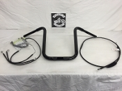 "2015-2017 Road Glide Standard Apes 15"" x 1 1/4"" & Cable kit"