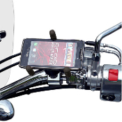 "Tri-Grip Phone/GPS Mount for 1"" or 1-1/4"" bars"