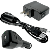 Value Pack- AC charger, DC charger and USB cable