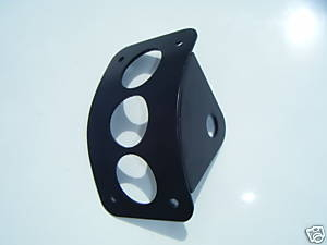Curved Radius Side Mount License Plate Bracket Mount