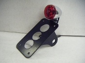 Vertical Side Mount License Plate Bracket & BULLET LIGHT