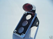 Cat Eye Side Mount Vertical License Plate Bracket & light