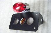 Horizontal Cat Eye Side Mount License Plate Bracket & LIGHT