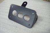 Horizontal Mount Bullet License Plate Bracket