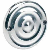 Polished Ripple Ignition Cover- 2 Hole Mount