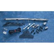 Chrome Rear Turn Signal Relocation Kit for 75-85 XL models