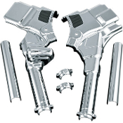 Chrome Neck Cover Kit for 08 FLHT/FLHR/FLTR/FLHX