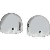 Dome Axle Caps for 96-14 Softail, Dyna, Touring and XL models