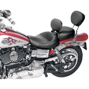 Wide Solo Seats w/Removable Backrest for 06-14 Dyna Glide