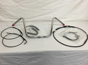 "12"" Chrome or Gloss Black handlebars & cable kit for Sportsters"