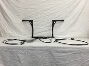 "16"" Bagger Bars & Complete Cable Kit 1996-2007 Harley Touring"