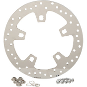 Polished Stainless Steel Drilled Front Brake Rotor