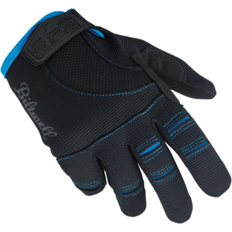 Moto Gloves- Black/Blue