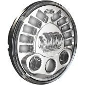 "7"" Pedestal Mount LED Adaptive Headlights, chrome or black"