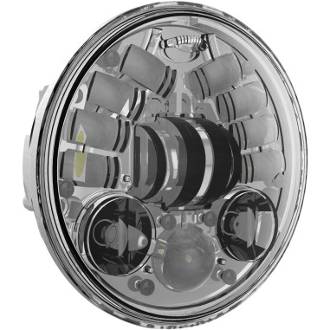 "7"" LED Adaptive Headlights, chrome or black"