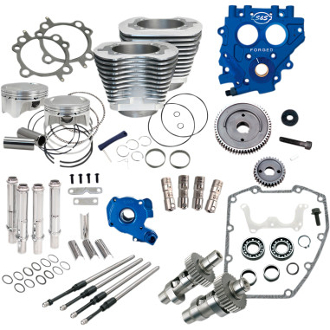 "S&S 100"" Power Package for HD® Twin Cam 88®-Gear Dr-Silver"