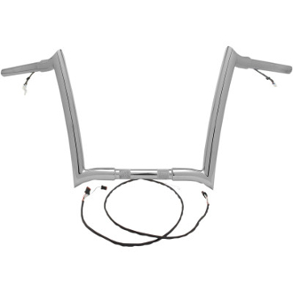 "1 1/4"" PRE-WIRED CHROME OR BLACK Monkey Bars for 15-20 FLTR"